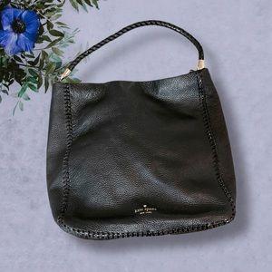 Kate Spade Black Pebble Leather Hobo Bag